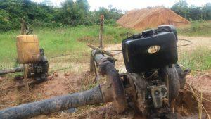 En zona rural de Ayapel, Córdoba, Armada Nacional incauta  material para la explotación ilícita de yacimientos mineros