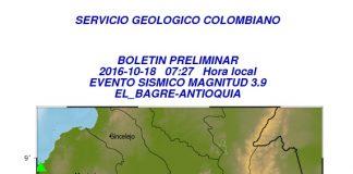 Temblor El Bagre Antioquia