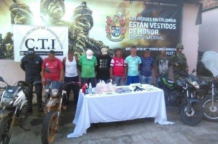 En Tarazá fueron capturados presuntos integrantes de una banda criminal que delinque en la región