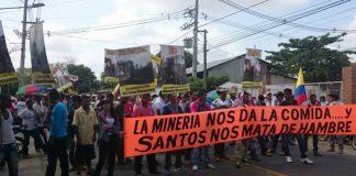 Marcha Mineros Bajo Cauca