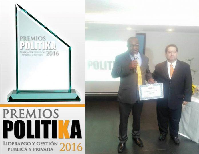 José Mercedes Berrio recibió premio como mejor Alcalde por su liderazgo y gestión