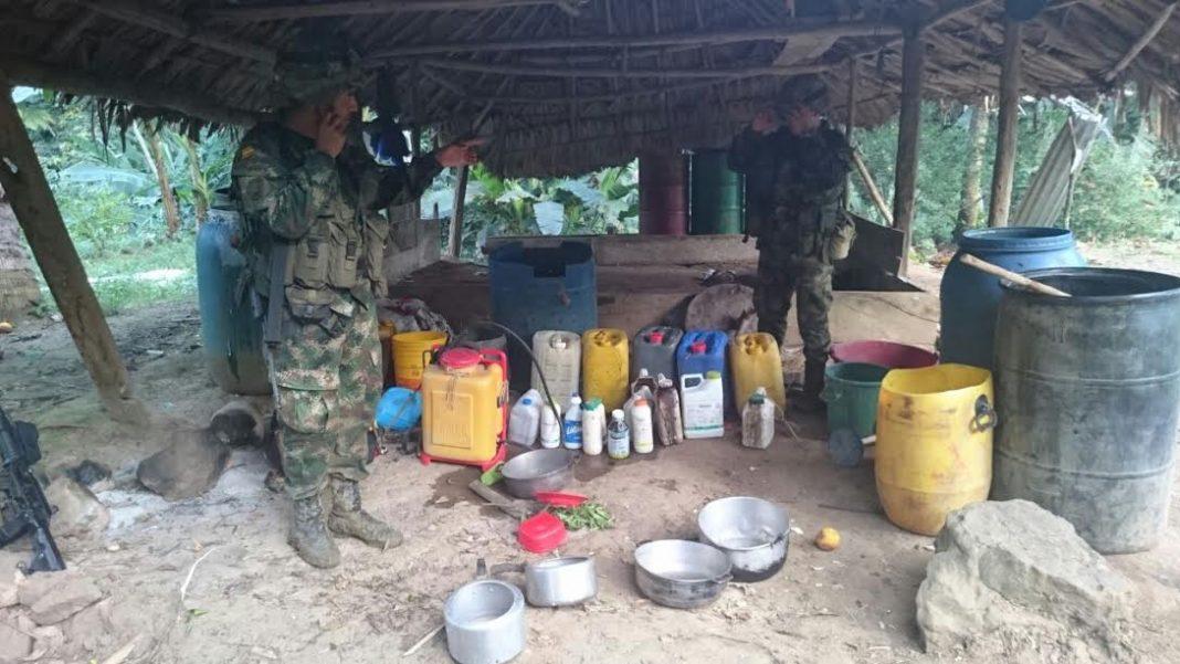 Destruyen un laboratorio ilegal para el procesamiento de pasta base de coca en Montelíbano (Córdoba)
