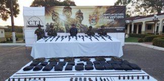 Ejército Nacional localizó un depósito ilegal de fusiles y material de guerra