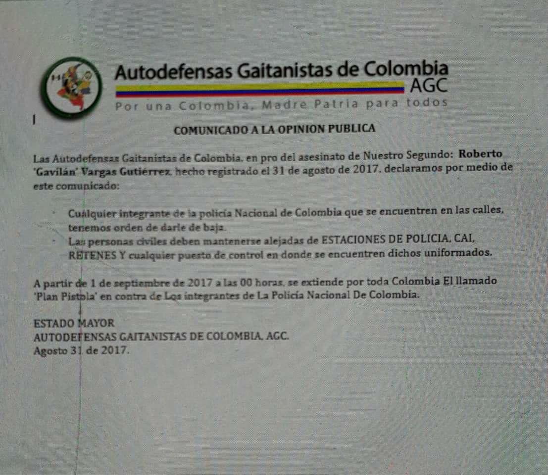 comunicado AGC